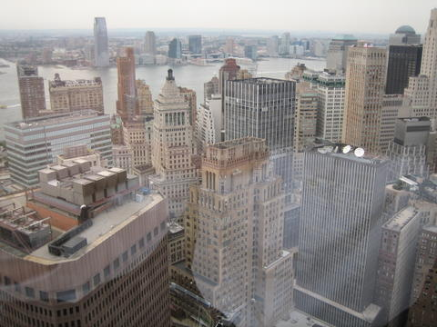 View from the 49th floor of 55 Water St.